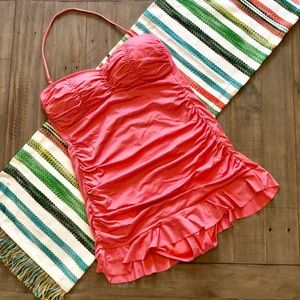 A.N.A. Skirted Swimsuit Strapless Size 14